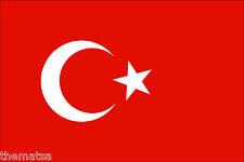 "5"" TURKEY TURKISH FLAG HELMET BUMPER EMBLEM DECAL STICKER MADE IN USA"