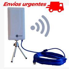 Adaptador WiFi para PC, Portatil antena exterior receptor USB wireless n89a 10m