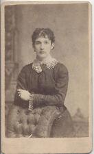 CIVIL WAR ERA CDV PORTRAIT OF BEAUTIFUL YOUNG WOMAN IN JEWELRY - RICHMOND, VA