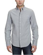 G Star RAW Kasaki Stripe Shirt L/S, Naval Blue/ Magmasium, Size XXL, $130