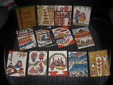 GORGEOUS Keisuke Serizawa NEW in BOX 12 Hand Printed FOLK ART Cards NOS Rare SET