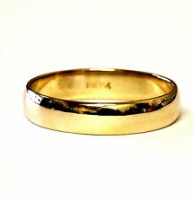 14k yellow gold 4.85mm mens wedding band ring estate vintage 4.2g gents antique