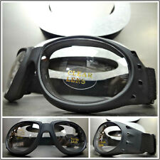 Men MOTORCYCLE BIKER Day Night RIDING PADDED GLASSES GOGGLES Clear ANTI FOG LENS