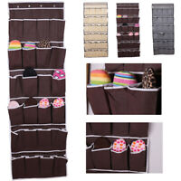 24 Pocket Over Door Hanging Shoe Rack Shelf Organizer Holder Storage Wall Closet