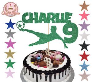 Football Custom Glitter Cake Topper Customised, Full Personalised, Any Name/Age