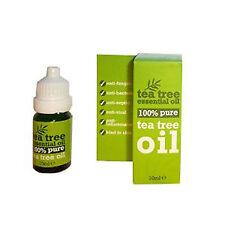 NUOVO 100% Puro Tea Tree Olio Essenziale 10ml (melaleuca alternifolia ANTI MICOSI __