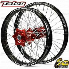 "Talon Evo Wheel Set Black & Red 21"" Front 19"" Rear For Honda CRF 250R 2014-2017"