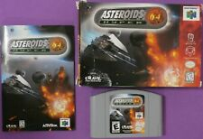 Asteroids Hyper 64 (Nintendo 64, 1999) with Box and Manual