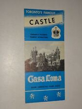 1940/50's Casa Loma Castle travel brochure Toronto, Ontario Canada