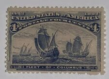 TRAVELSTAMPS: 1893 US Stamps Scott # 233, Fleet of Columbus, Mint, NG