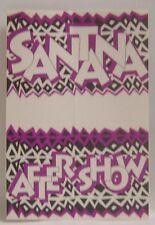 Carlos Santana - Vintage Original Cloth Concert Tour Backstage Pass