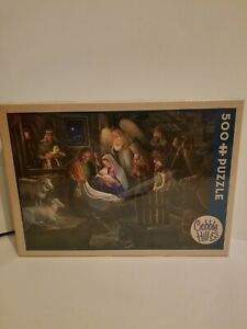 """Cobble Hill 500 Pc. Puzzle Christmas Away in a Manger 24""""X18"""""""