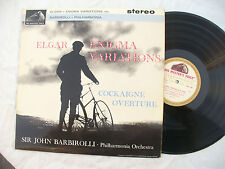 ELGAR ENIGMA VARIATIONS LP BARBIROLLI COCKAIGNE asd 548 gold cream stereo 1st