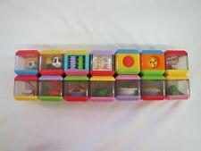 14 Fisher Price PEEK A BLOCK Blocks Audio Visual Tactile Development Lot #10