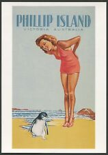 "AUSTRALIA: Historical travel poster ""PHILLIP ISLAND"" by Fay Plamka [1993]"