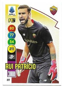 PANINI ADRENALYN XL CALCIATORI 2021-2022 CARD N. 217 RUI PATRICIO (ROMA)
