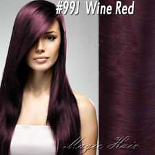 THICK 100% Virgin Double Weft Clip in Real Human Hair Extensions Full Head SU455