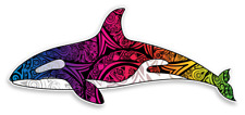 Orca Whale Decal Vinyl Sticker Killer whale tribal For car truck window laptop