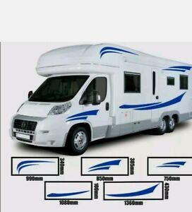 X2 Side MOTORHOME STRIPES - Camper Van Horsebox Caravan RV Decals Sticke