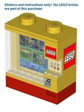 Custom LEGO vending machine instructions stickers modular building city advanced