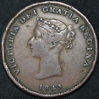 1843 | Canada New Brunswick Half-Penny Token | Copper | Tokens | KM Coins