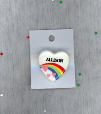 Rainbow & Hearts Fashion Pin Brooch Personalized Allison - Stocking Stuffer