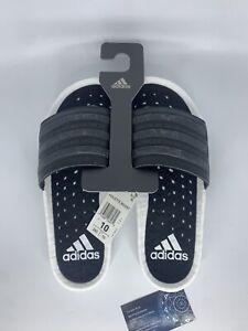 Adidas Adilette Boost Slides White Black Men's Sizing 10,11,12,13 EG1910