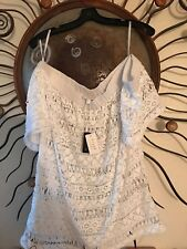 Milly Cabana Sexy White  Coverup Size M NWT $225