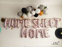 Rose Gold Balloons Letters Silver Birthday Party Banner Custom HOME SWEET HOME