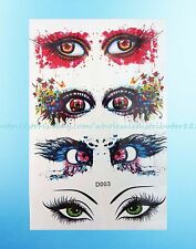 """Realistic Temporary Tattoos for Adults 3D eyes 6""""X4"""" temporary tattoo"""