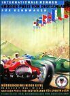 German Nurburgring Car Races Big Prize 1950 Grosser Preis Vintage Poster Print