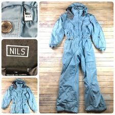 NILS One piece SKI SUIT Snowsuit Light Blue Womens Size 12