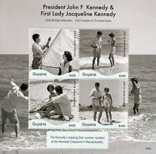 Guyana 2017 MNH JFK John F Kennedy 100th Birthday 4v M/S II US Presidents Stamps