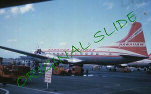 2 1960 Hawaiian Airlines Super Convair Airplane Kodachrome Slides