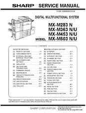 Sharp MX-M283 N, MX-M363 N/U, MX-M453 N/U, MX-M503 N-U - Service Manual PDF