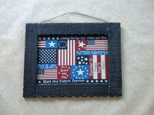 "American Flag Large PLAQUE Sign  Rustic Old Glory 18"" x 14"""