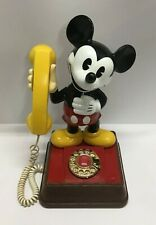 Vintage 1976 Disney Mickey Mouse Telephone Rotary Dial Phone