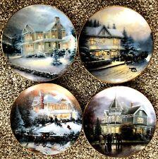 "Thomas Kincade ""An Oldfashioned Christmas"" Plates-Set of 4"