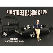 THE STREET RACING CREW FIGURE III FOR 1:18 BY AMERICAN DIORAMA 77433
