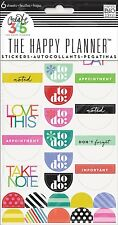 """me&my BIG ideas Create 365 The Happy Planner BRIGHT """"TO DO"""" Stickers - 6 sheets"""