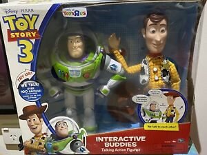 DISNEY TOY STORY 3  Interactive Buddies BUZZ LIGHTYEAR & WOODY