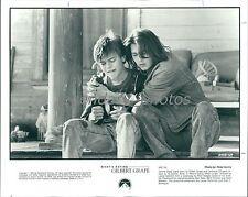 1993 Johnny Depp Hugs Leonardo DiCaprio Original News Service Photo