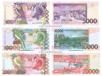 Saint Thomas & Prince 5000 + 10000 + 20000 Dobras Set of 3 Banknotes 3 PCS UNC
