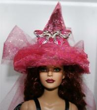 Piink Coral Butterfly Pin Brooch Mini Salem Witch Hat #29 Fairy Doll Bottle Top