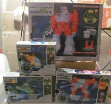 Atomic Blox lot of 4 NEW Light Up Buliding Toys Zetatron Helicopter more MISB