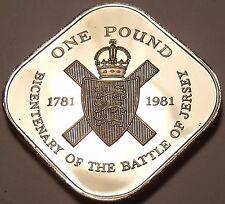 Huge Rare Gem Cameo Proof Jersey 1981 Pound~15k Minted~Bicentennial~Free Ship~