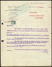 █ Facture 1925 René Segall à Paris Matières premières Produits chimiques etc █