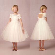 Formal Flower Girls Christening Dress Wedding Party Bridesmaid Princess Dresses