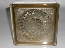 Vetro mattone, vetrocemento,mattone in vetro decorato ambra cm. 19X19X8