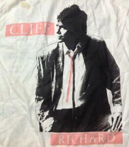 Cliff Richard vintage 1980s T SHIRT single stitch Medium M Screen Stars UNWORN